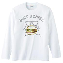 [ロングスリーブTシャツ] Diet ruined