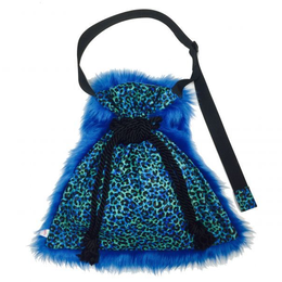 Blue JAZZ|shoulder kinchaku fur bag [DW19-232]