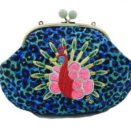 Peacock METAL (BL)|Make-up pouch [DW2-3006]