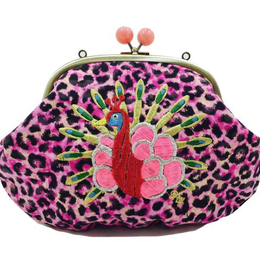 Peacock METAL (PK)|Make-up pouch [DW2-3005]