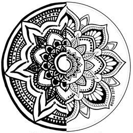 """ステッカー4枚セット """"Mandala & Sunflower"""" [ボーナス付]"""