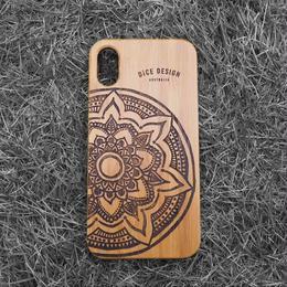 """Bamboo iPhone case """"Mandala B"""""""