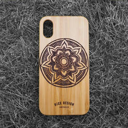"Bamboo iPhone case ""Mandala A"""