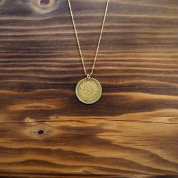 Nature COiN pendant necklace [Brass]