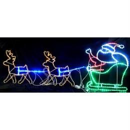 LED イルミネーション ディスプレイ 飾り 照明 ライティング クリスマス ト ナカイ&プレゼントサンタ 【L2DM298】CR-71