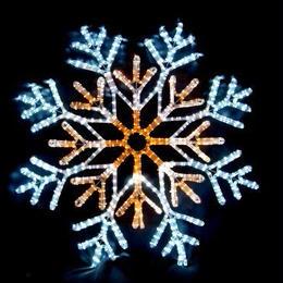 イルミネーション ディスプレイ 飾り 照明 ライティング クリスマス  雪 LEDスノーフレーク 白・黄色【L2DM241】CR-77