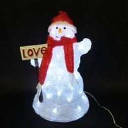 LED イルミネーション ディスプレイ 飾り 照明 ライティング クリスマス   雪だるま ラブ&スノーマン【L3D322】CR-84