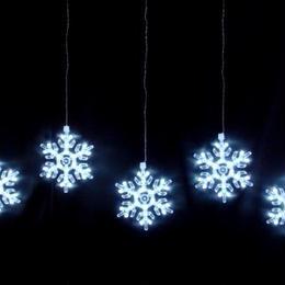LEDスノーフレークカーテンライト白色【LDCM049】室内用*。