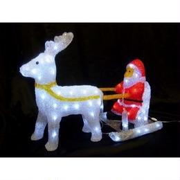 イルミネーション ディスプレイ 飾り 照明 ライティング クリスマス   サンタソリ&トナカイ【L3D803】CR