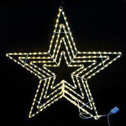 イルミネーション ディスプレイ 飾り 照明 ライティング クリスマス  星 LEDビッグスター電球色【L2DM601D】CR-75