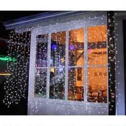 LED イルミネーション 点滅 ディスプレイ 飾り 照明 ライティング クリスマス カーテンライト 白 電球色 庭 ガーデン 家 CR-35