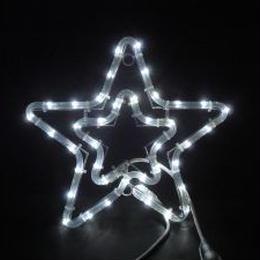 イルミネーション ディスプレイ 飾り 照明 ライティング クリスマス  星 LEDチューブスター白色【L2DM166W】CR-75