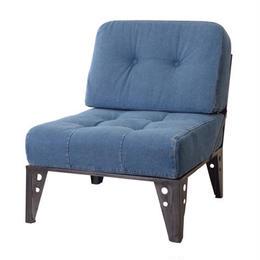【Azumaya 東谷】1人掛け デニムソファ カーター 椅子 AZ2-85(NS-542)