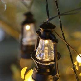 ソーラーライト イルミネーション LED ランタン 10球 ディスプレイ キャンプ アウトドア ガーデン 庭【SLR67】CR-95