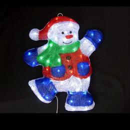 LED イルミネーション 壁掛けスノーマン ディスプレイ 飾り 庭 クリスマス 【L2DM286】CR-72