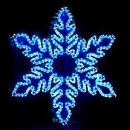イルミネーション ディスプレイ 飾り 照明 ライティング クリスマス  雪 LEDスノーフレーク 白・青色【L2DM242】CR-77