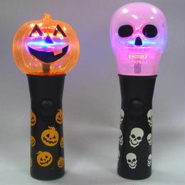 レインボーライト かぼちゃ パンプキン スカル ハロウィン 照明 電池式 スティック CR