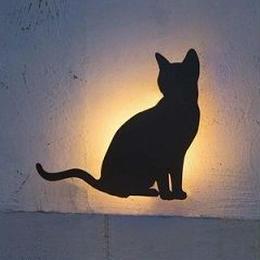 【LED   デコウォールライト】猫1 【GYOG254 377】YT-205