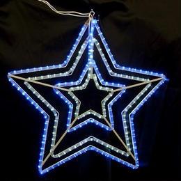 イルミネーション ディスプレイ 飾り 照明 ライティング クリスマス  ダブルスター 白・青色  【L2DM502】