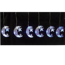 イルミネーション LED ムーンカーテン 6連 月 装飾 ディスプレイ ショップ【LDCM078】CR-80