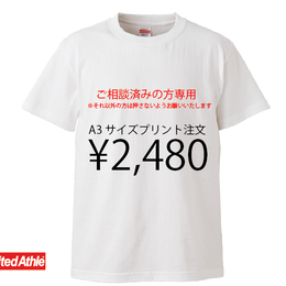 LINE@にて打ち合わせ済みの方限定注文品(A3サイズ)