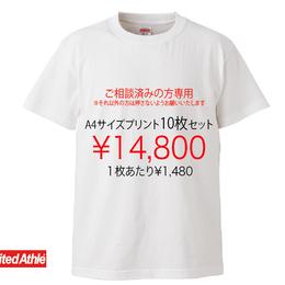 LINE@にて打ち合わせ済みの方限定注文品(A4サイズ10枚セット)
