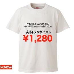 LINE@にて打ち合わせ済みの方限定注文品(白ボディーA3プリント+ワンポイント)