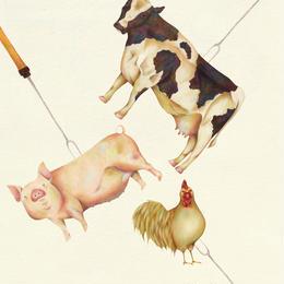 BBQ animal【イラスト:A4サイズ】