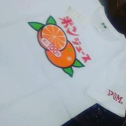ポンジュースTシャツ<白>
