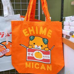 みきゃんトートバッグ、オレンジ