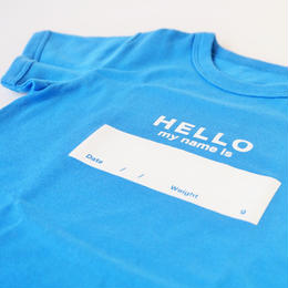 "DRIBBLE ""HELLO MY NAME IS"" Tシャツ / BLUE"