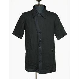 Kohshin Satoh 一点もの リネン×シルク 半そでシャツ メンズ〔SL-194-1〕