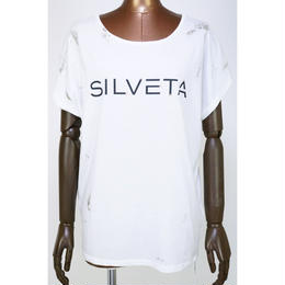 SILVETA ロゴ メタリック Tシャツ〔TCO17HF-07〕