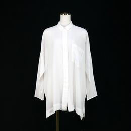 シルク オーバーシャツ ブラウス ホワイト〔1580804〕