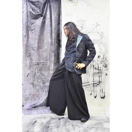 Kohshin Satoh オーガンジー透け感 ジャケット/一点もの/メンズ〔JK-726-1〕