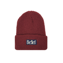 """BELIEF"" MIDNIGHT BEANIE (RUST)"
