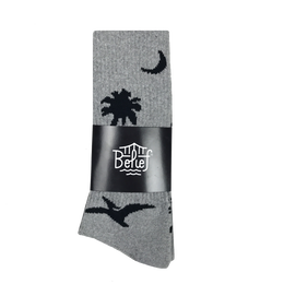 """BELIEF"" PREHISTORIC SOCK ( HEATHER GREY)"