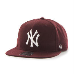 """47Brand"" Yankees Sure Shot '47 CAPTAIN  (DARK MAROON)"