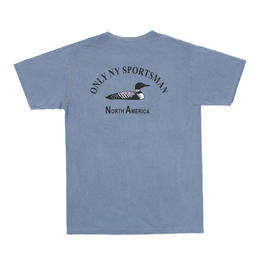 """ONLY NY"" Loon Society Pocket T-Shirt (Vintage Blue)"