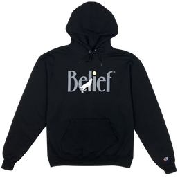 """BELIEF"" MIDNIGHT HOODY (BLACK)"
