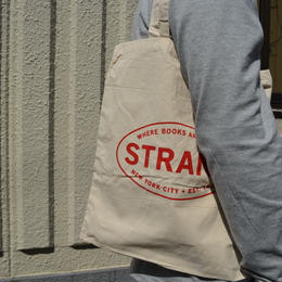 """STRAND BOOK STORE""TOTE BAG(WHT/RED)"