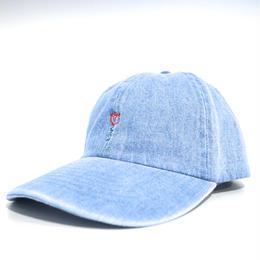 """""""BRVND"""" ROSE CAP (WASHDENIM)"""