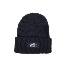 """BELIEF"" MIDNIGHT BEANIE (NAVY)"
