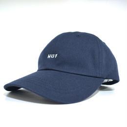 """HUF"" ORIGINAL LOGO CURVE BRIM HAT (NAVY)"
