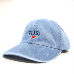 """FLASH ORIGINAL"" WING FOOT DENIM CAP (ICE BLUE)"