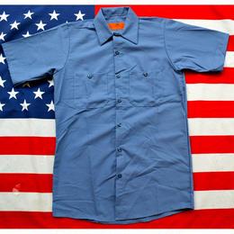 """RED KAP"" S/S WORK SHIRT (POSTMAN BLUE)"