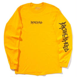 """BROTHER HOOD"" ICONIC - L/S TEE (GOLD)"