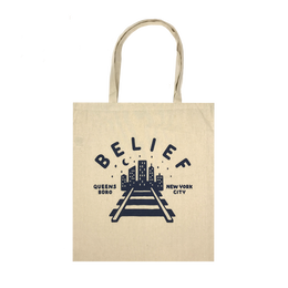 """BELIEF"" QUEENSBORO TOTE (NATURAL)"