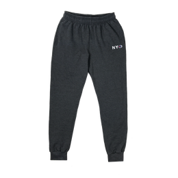 """BELIEF"" NYC CHAMPION™ FLEECE PANTS (CHARCOAL HEATHER)"