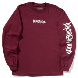 """BROTHER HOOD"" ICONIC - L/S TEE (MAROON)"